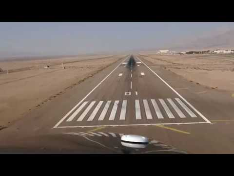 Diamond Aircraft DA62 -  Cockpit View Landing Aqaba Jordan [4K]