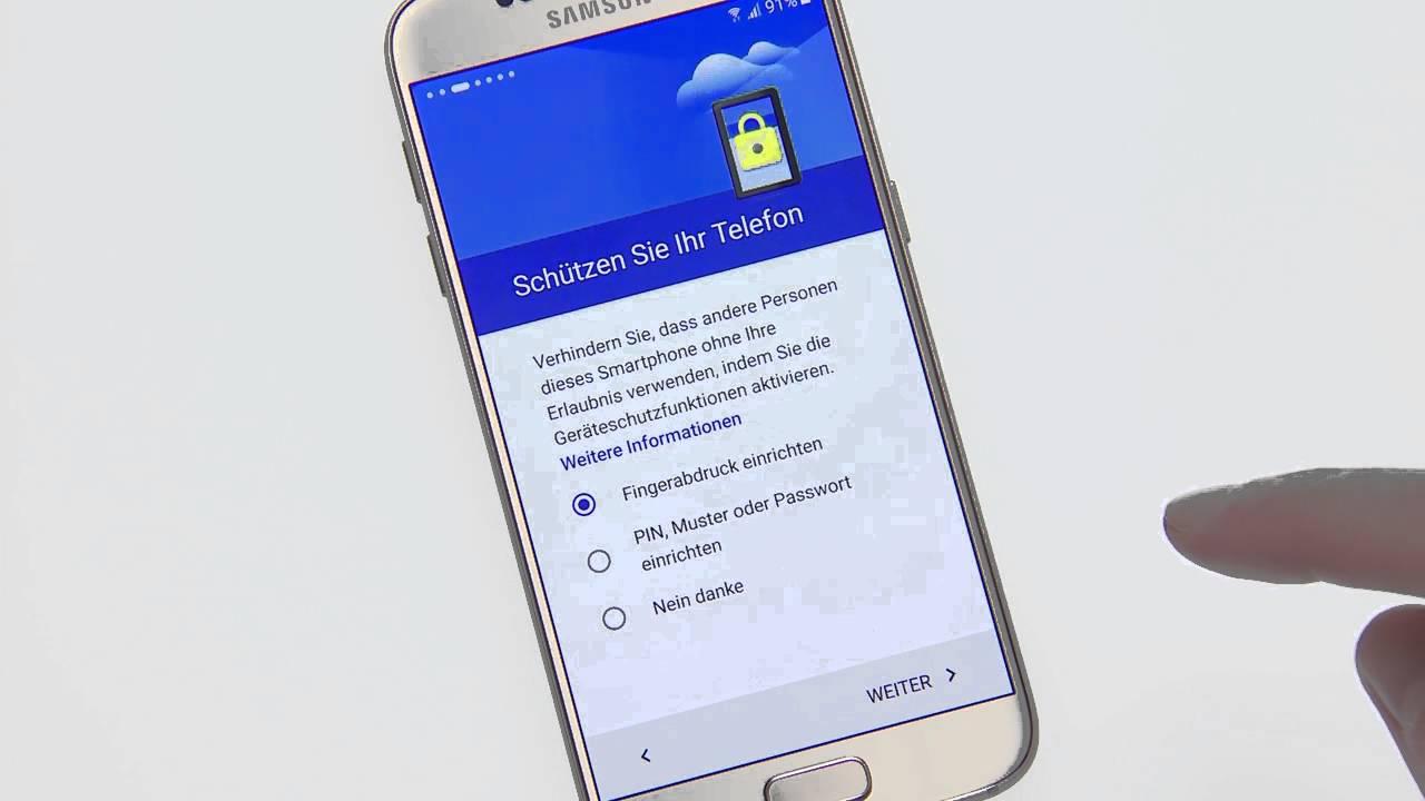 Samsung Galaxy S9 Ersteinrichtung