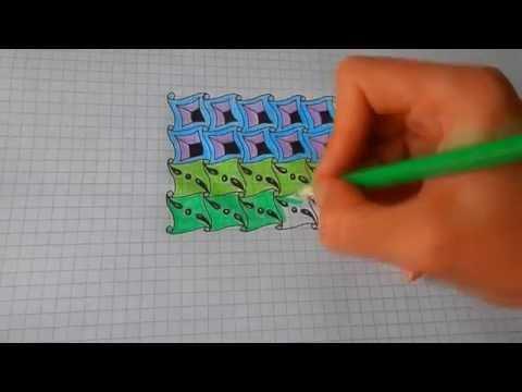 Нарисовать рисунок антистресс Дудлинг и Зентангл #22/ To draw Patterns Doodling are observed