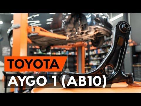 Как заменить передний рычаг подвески TOYOTA AYGO 1 (AB10) [ВИДЕОУРОК AUTODOC]