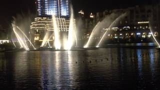 Dubai fountain (some Japanese song)