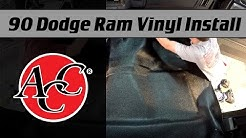 ACC Vinyl Flooring Install in a 1990 Dodge Ram