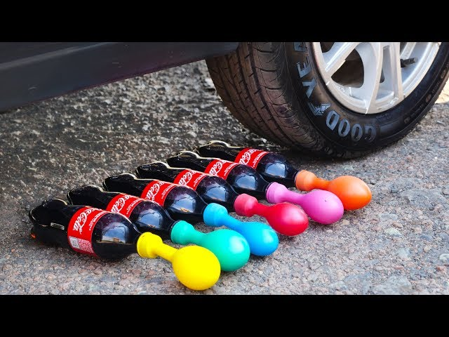 Crushing Crunchy & Soft Things by Car! CAR vs Coca-Cola with Balloons