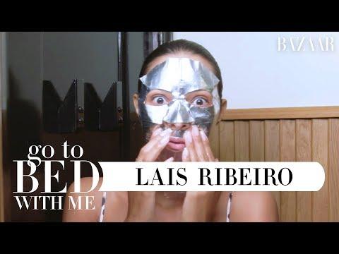 Brazilian Model Lais Ribeiro's Nighttime Skincare Routine | Go To Bed With Me | Harper's BAZAAR