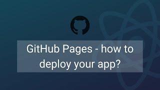 GitHub Pagina ' s - het implementeren van uw Reageren app?