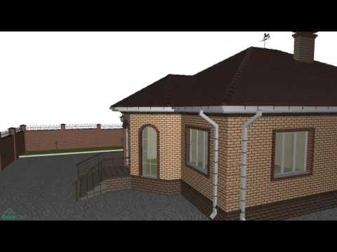 Проект одноэтажного дома «Эркер»   B-166-ТП