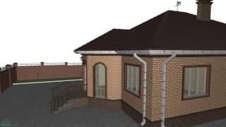 Проект одноэтажного дома «Эркер»   B-166-ТП(, 2016-10-27T14:36:59.000Z)