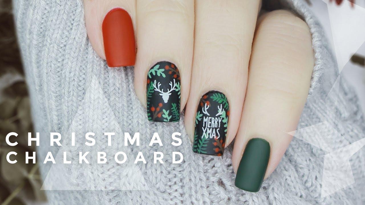 diy christmas floral & deer silhouette