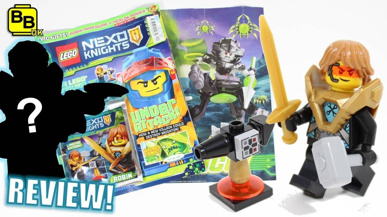 ROBIN & ANVIL!! LEGO NEXO KNIGHTS ISSUE 24 MAGAZINE REVIEW