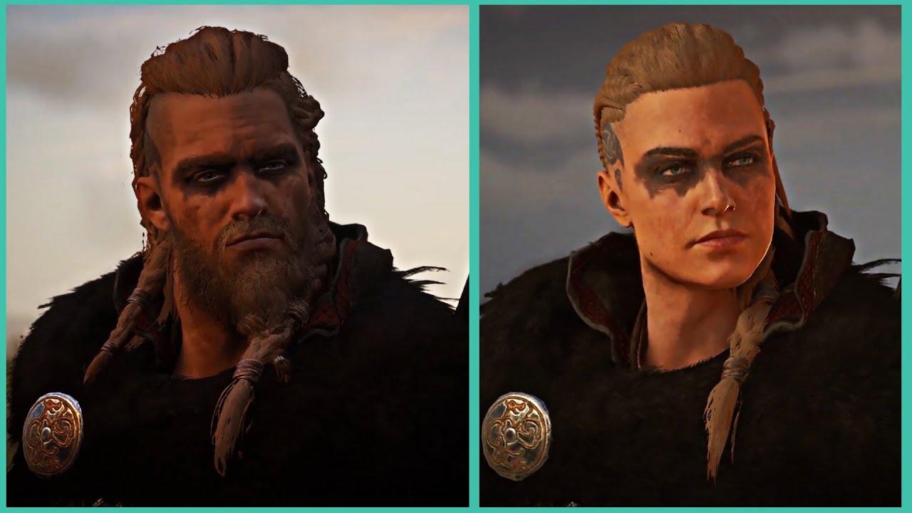 Assassin S Creed Valhalla Male Eivor Vs Female Eivor Comparison