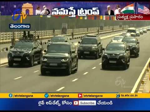LIVE   PM Modi-Donald Trump hold 22 km roadshow, arrive at Motera stadium for 'Namaste Trump' event