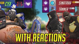 CYX VS SINATRAA & TANNER! WITH REACTIONS (Overwatch)