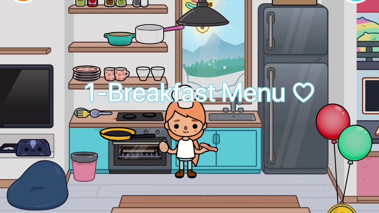 Make Breakfast Lunch And Dinner Menu   Fiona's Kitchen   Toca Life World - YouTube