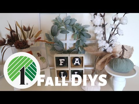 FARMHOUSE DOLLAR TREE FALL DIYS | FALL DIY HOME DECOR | DOLLAR TREE FALL DECOR | BURLAP FABRIC