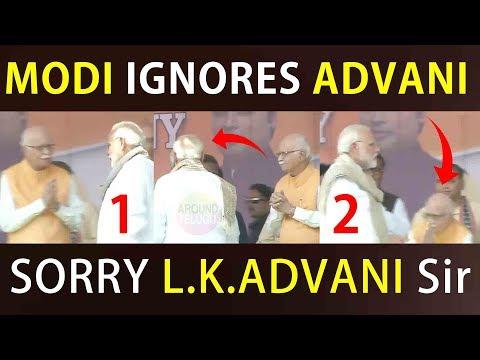 VIDEO : PM Narendra Modi Ignores L K Advani...Modi Behaviour...Tripura Swearing In Ceremony