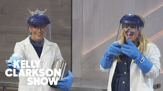 Jessica Alba, Kelsea Ballerini, And Miss Virginia Explode A Nitrogen Cloud | The Kelly Clarkson Show