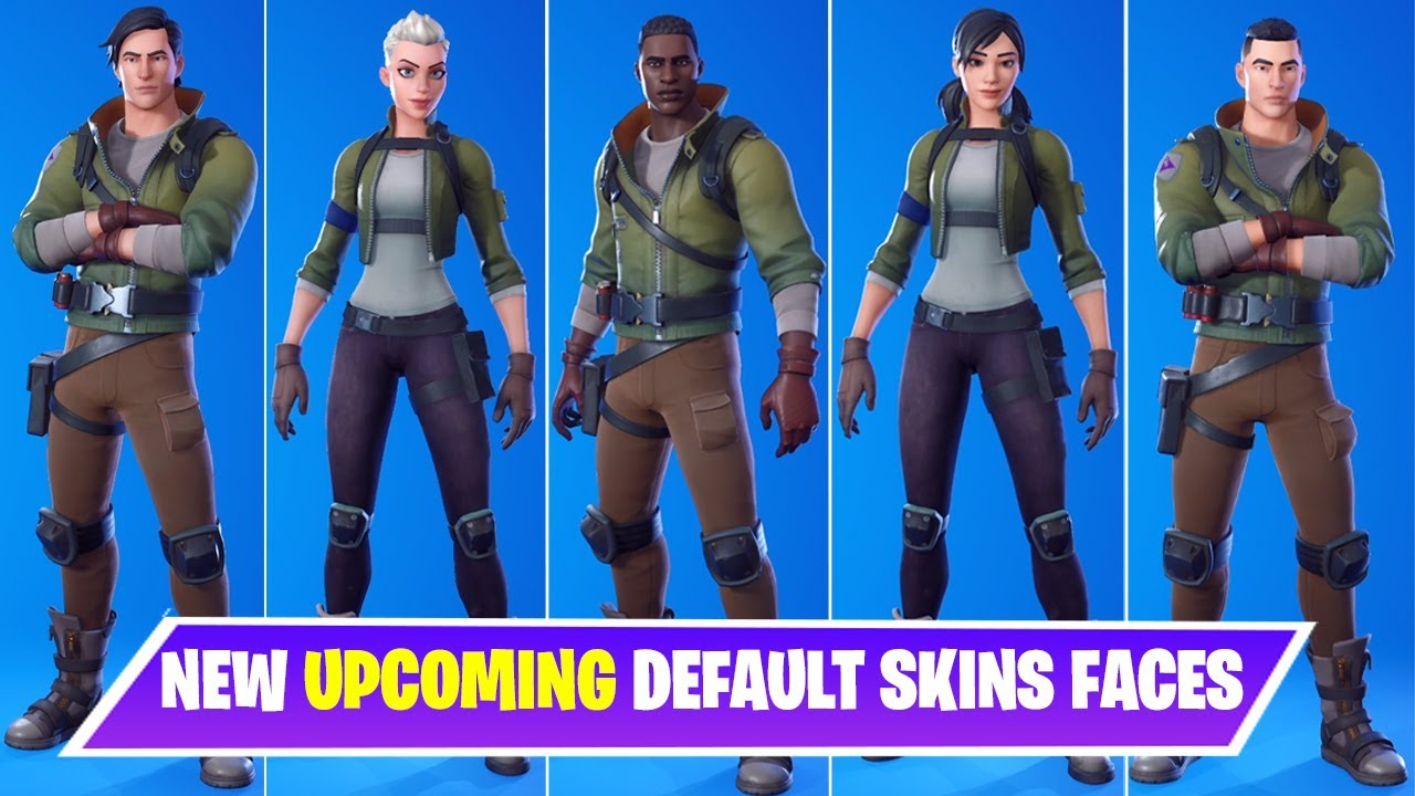 Fortnite Upgraded Default Skinds All New Upcoming Default Skins Faces In Fortnite Chapter 2 Season 4 Youtube