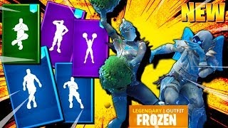 *NEW* Fortnite FROZEN Skins & Emotes (Frozen Love Ranger, Frozen Red Knight, Frozen Raven)