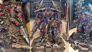 "Unboxing   93cm ! Transformers 2 ""jetpower Optimus Prime"" Ex Ver By Prime 1 Studio  Part 1"