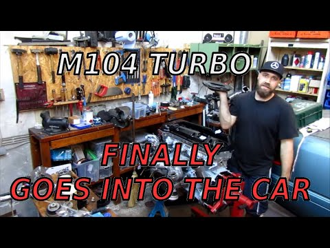 Progress on my M104 turbo build and putting it into the engine bay of my Mercedes W202 sleeper