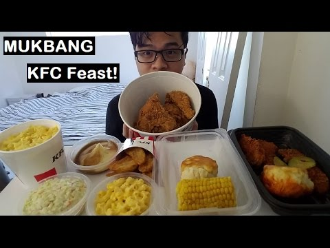 MUKBANG: KFC FEAST! Crunchy Chicken and Sides Galore | Closed-Mouth Chewing | Eating Show | JaySMR