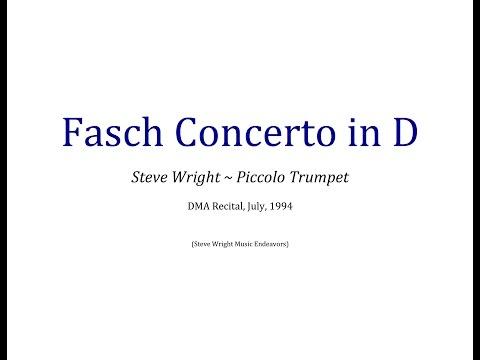 Fasch Trumpet Concerto in D-Major • Steve Wright, Piccolo Trumpet