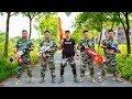 LTT Game Nerf War : Winter Warriors SEAL X Nerf Guns Fight Criminal Group Bandits Craftily