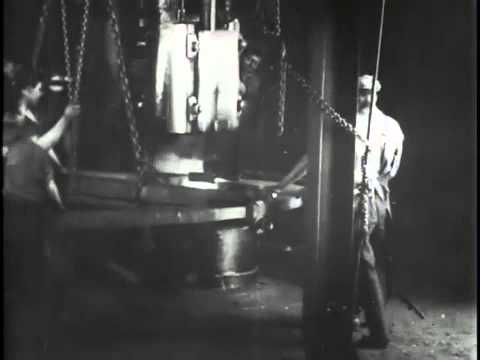 Welding the big ring - Historic 1904 Westinghouse footage from East Pittsburgh, Pennsylvania.