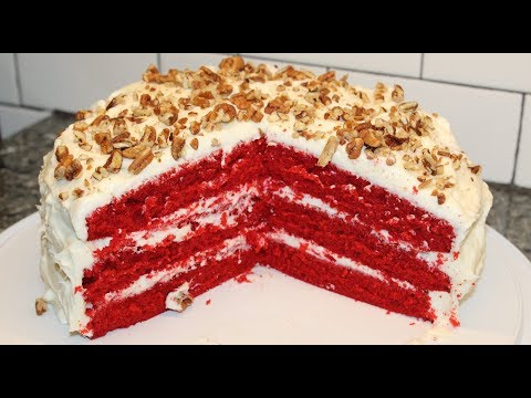 Making Southern Red Velvet Cake - Recipe
