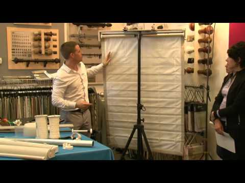 RollEase - How To Make a Cordless Roman Shade with Easy Spring Plus by Elki Horn