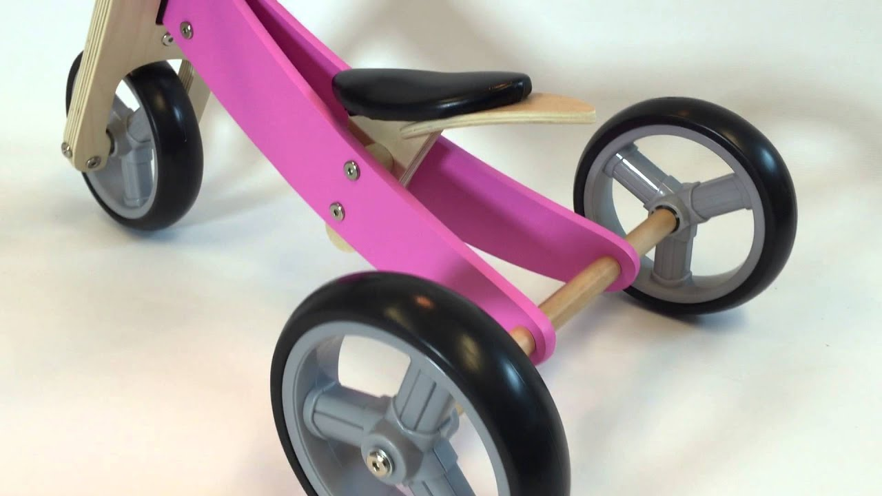 Smart Trike Roze Bandits Angels Smart Bike 4in1 Roze Houten Loopfiets