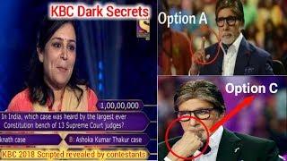 Dark Secrets of KBC 2018 ! Contestants Revealed Secrets ! KBC 1 Crore  question !