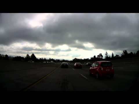 Blackvue DR400G-HD II Car Cam On Scion IQ Test Video (day Time, Cloudy Day) (8x Speed)