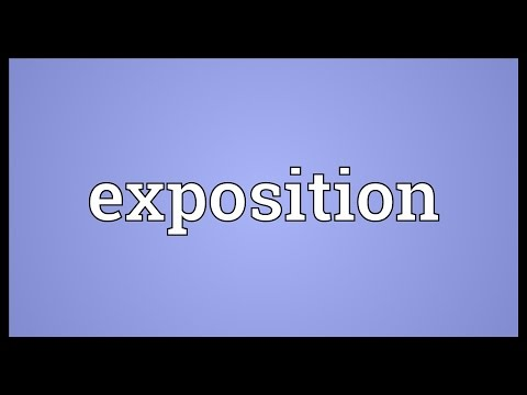 Exposition Meaning