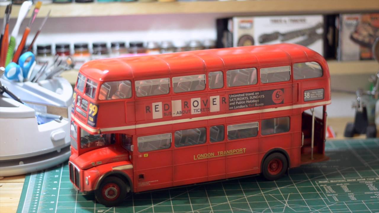 mf revell london bus final youtube. Black Bedroom Furniture Sets. Home Design Ideas