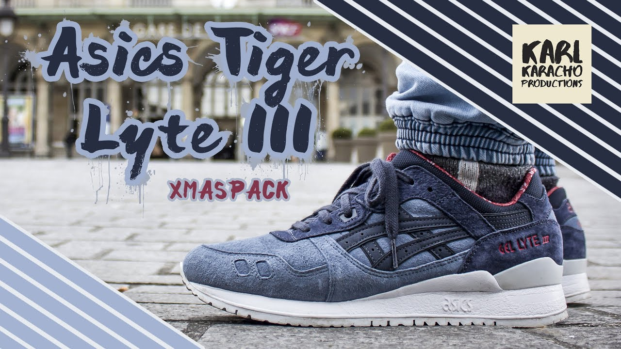 best loved 4dde7 493dd Asics Tiger LYTE III - X-MAS PACK - BLUE MIRAGE - Sneakers on feet - PARIS  - Music by Aether