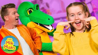 Bruce The Hairy Crocodile | Funny Songs and Nursery Rhymes for Kids | The Mik Maks
