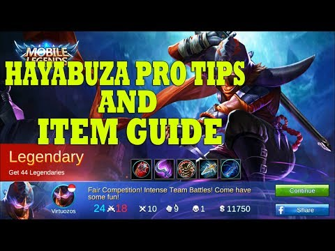 Hayabusa Pro Tips And Item Guide Indonesia #1- Mobile Legends