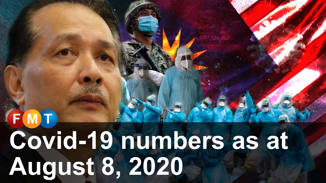 Covid 19 numbers as at August 8, 2020