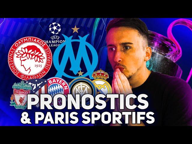 MES 8 PRONOSTICS CHAMPIONS LEAGUE (mercredi) Olympiakos - Marseille, Bayern, Real etc