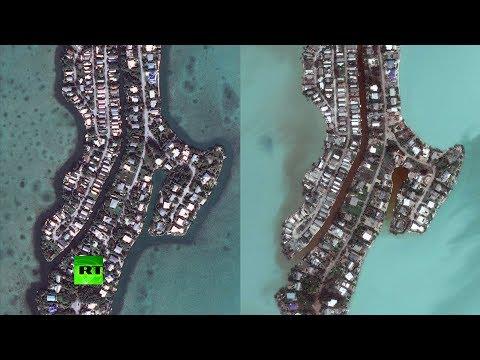 Satellite images show Irma destruction in Caribbean & Florida