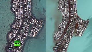 Satellite images show Irma destruction in Caribbean & Florida