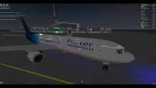 ROBLOX Porter Airlines 767-300ER Flight