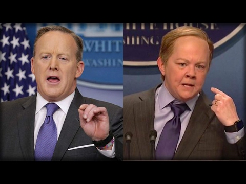 Thumbnail: SEAN SPICER RESPONDS TO SNL SKIT THAT MOCKED HIM WITH JUST ONE WORD THAT SAYS IT ALL