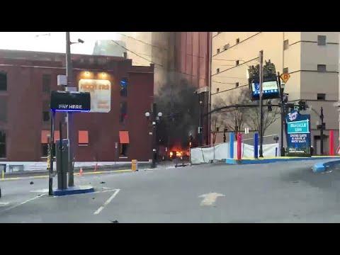 RAW: Nashville downtown explosion Christmas morning