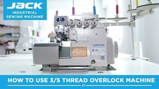 Class 43 - Jack JK768DI 5 thread Industrial Overlock Machine - how to thread and how to use - Part 2