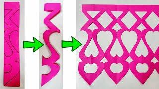 Paper Cutting Decoration idea for Festivals & Parties|| त्योहारों और पार्टियों के लिए पेपर डेकोरेशन