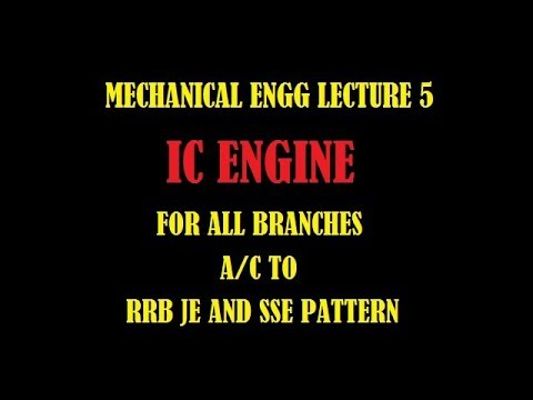 IC ENGINE FOR RRB JE AND SSE