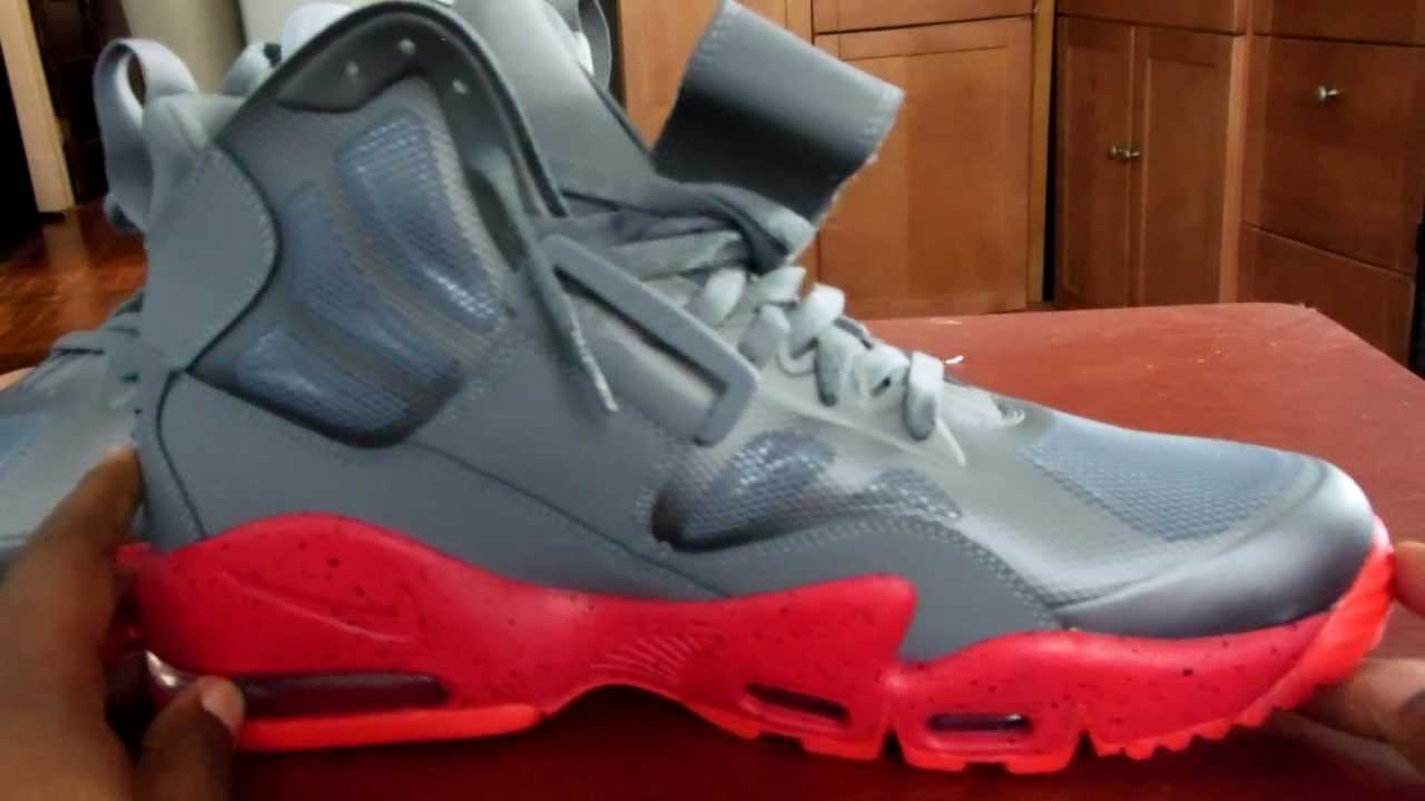 sale retailer 60900 c6d4f NIKE AIR MAX EXPRESS GREY AND SOLAR RED - YouTube