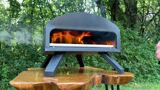 Bertello Outdoor Pizza Oven - Using Wood and Charcoal